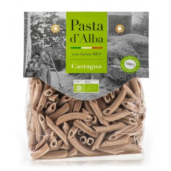 Pasta d'Alba - Penne di Castagna Bio - Linea Senza Glutine - Pasta Italiana Biologica Artigianale