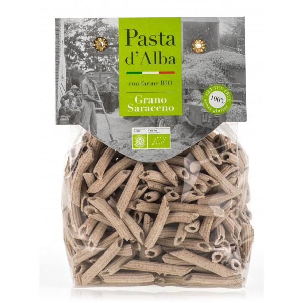 Pasta d'Alba - Penne di Grano Saraceno Bio - Linea Senza Glutine - Pasta Italiana Biologica Artigianale