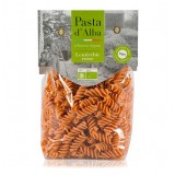 Pasta d'Alba - Fusilli di Lenticchie Rosse Bio - Linea Senza Glutine - Pasta Italiana Biologica Artigianale