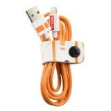 Tribe - BB-8 - Star Wars - Cavo Lightning USB - Trasmissione Dati e Ricarica per Apple iPhone - Certificato MFi - 120 cm