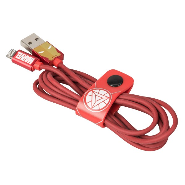 Tribe - Iron Man - Marvel - Cavo Lightning USB - Trasmissione Dati e Ricarica per Apple iPhone - Certificato MFi - 120 cm