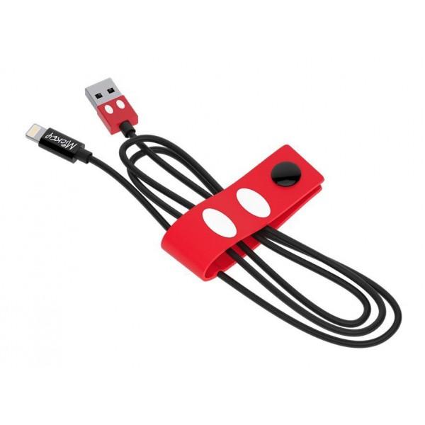 Tribe - Topolino - Disney - Cavo Lightning USB - Trasmissione Dati e Ricarica per Apple iPhone - Certificato MFi - 120 cm