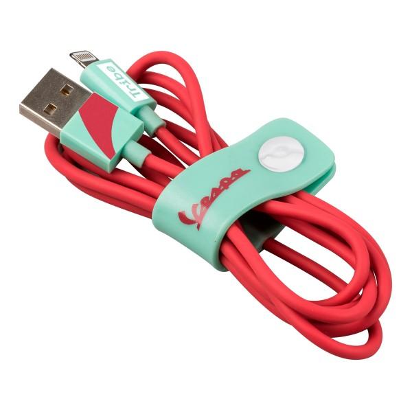Tribe - Acquamarina - Vespa - Cavo Lightning USB - Trasmissione Dati e Ricarica per Apple iPhone - Certificato MFi - 120 cm