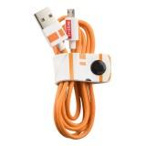 Tribe - BB-8 - Star Wars - Cavo Micro USB - Trasmissione Dati e Ricarica per Android, Samsung, HTC, Nokia, Sony - 120 cm