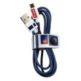 Tribe - R2-D2 - Star Wars - Cavo Micro USB - Trasmissione Dati e Ricarica per Android, Samsung, HTC, Nokia, Sony - 120 cm
