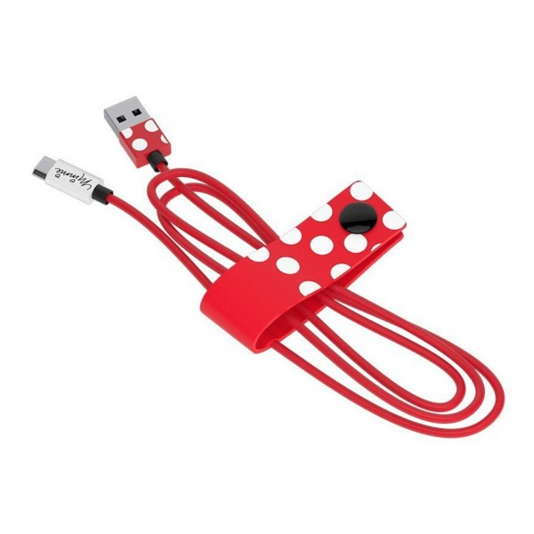 Tribe - Minnie - Disney - Cavo Micro USB - Trasmissione Dati e Ricarica per Android, Samsung, HTC, Nokia, Sony - 120 cm