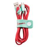 Tribe - Acquamarina - Vespa - Cavo Micro USB - Trasmissione Dati e Ricarica per Android, Samsung, HTC, Nokia, Sony - 120 cm
