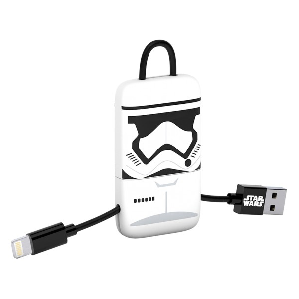 Tribe - Storm Trooper - Star Wars - Cavo Lightning USB - Portachiavi - Dati e Ricarica - Apple iPhone - Certificato MFi - 22 cm