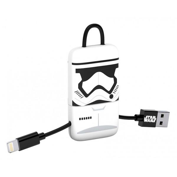 Tribe - Storm Trooper - Star Wars - Cavo Lightning USB - Portachiavi - Dati e Ricarica - Apple iPhone - Certificato MFi - 22 cm