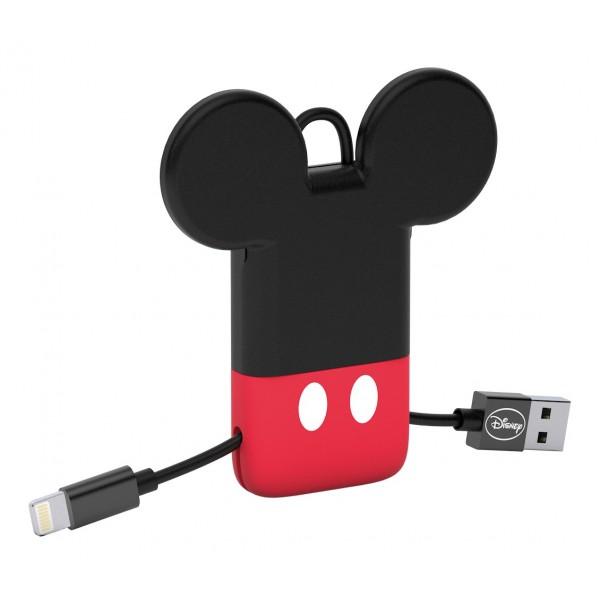 Tribe - Topolino - Disney - Cavo Lightning USB - Portachiavi - Dati e Ricarica per Apple iPhone - Certificato MFi - 22 cm