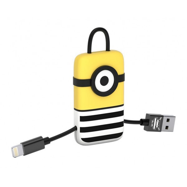 Tribe - Jail Time - Minions - Cavo Lightning USB - Portachiavi - Dati e Ricarica per Apple iPhone - Certificato MFi - 22 cm