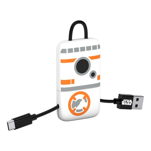 Tribe - BB-8 - Star Wars - Cavo Micro USB - Portachiavi - Dati e Ricarica per Android, Samsung, HTC, Nokia, Sony - 22 cm