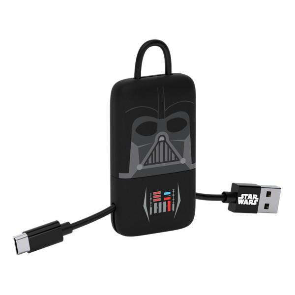 Tribe - Darth Vader - Star Wars - Cavo Micro USB - Portachiavi - Dati e Ricarica per Android, Samsung, HTC, Nokia, Sony - 22 cm