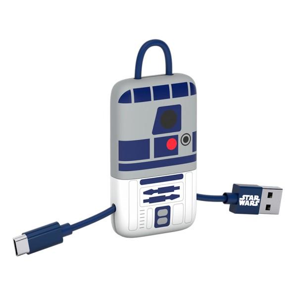 Tribe - RD-D2 - Star Wars - Cavo Micro USB - Portachiavi - Dati e Ricarica per Android, Samsung, HTC, Nokia, Sony - 22 cm