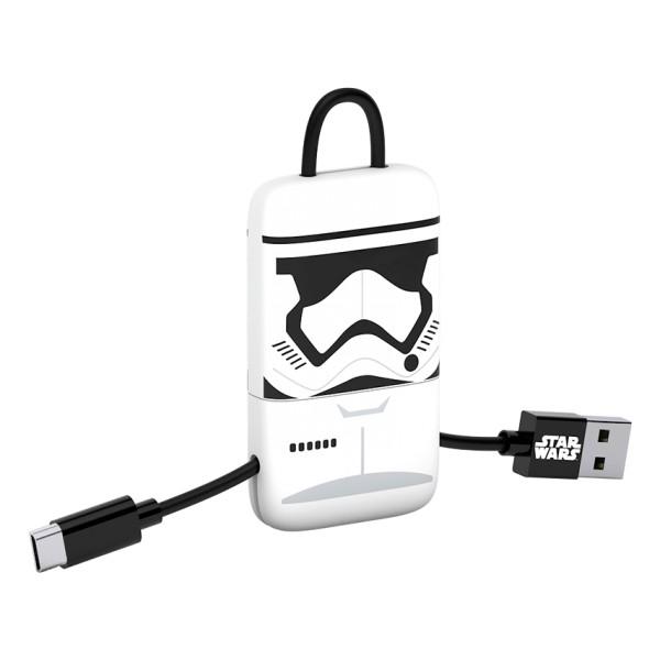 Tribe - Storm Trooper - Star Wars - Cavo Micro USB - Portachiavi - Dati e Ricarica - Android, Samsung, HTC, Nokia, Sony - 22 cm