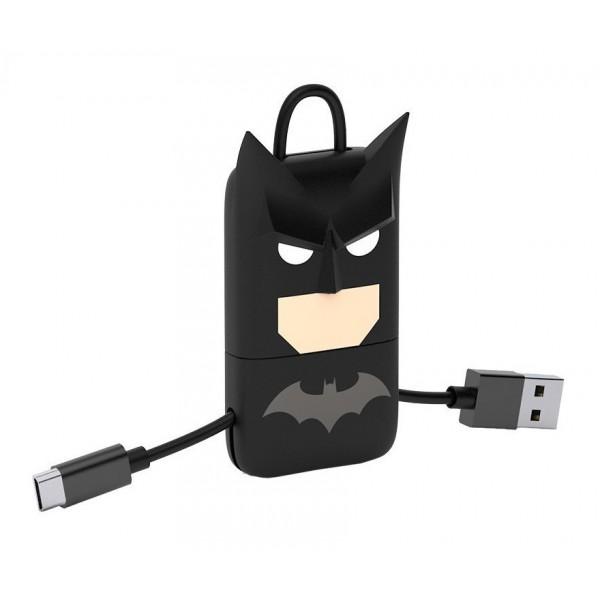 Tribe - Batman - DC Comics - Cavo Micro USB - Portachiavi - Dati e Ricarica per Android, Samsung, HTC, Nokia, Sony - 22 cm
