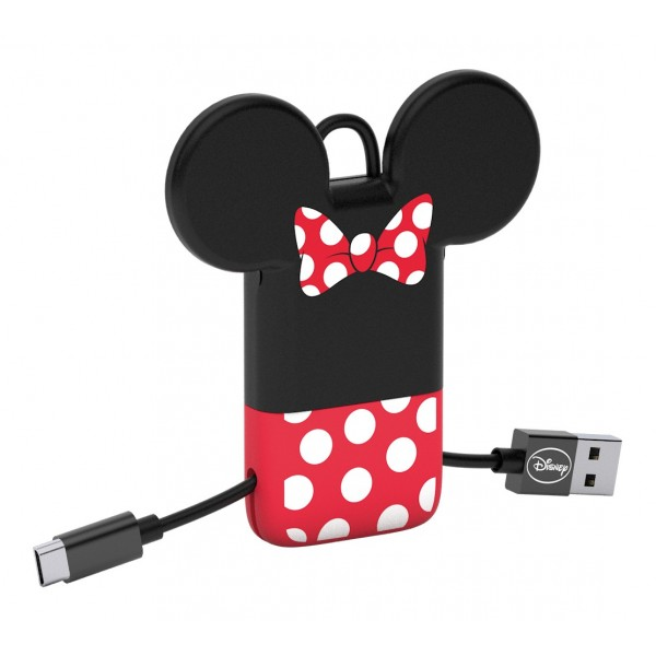 Tribe - Minnie - Disney - Cavo Micro USB - Portachiavi - Dati e Ricarica per Android, Samsung, HTC, Nokia, Sony - 22 cm