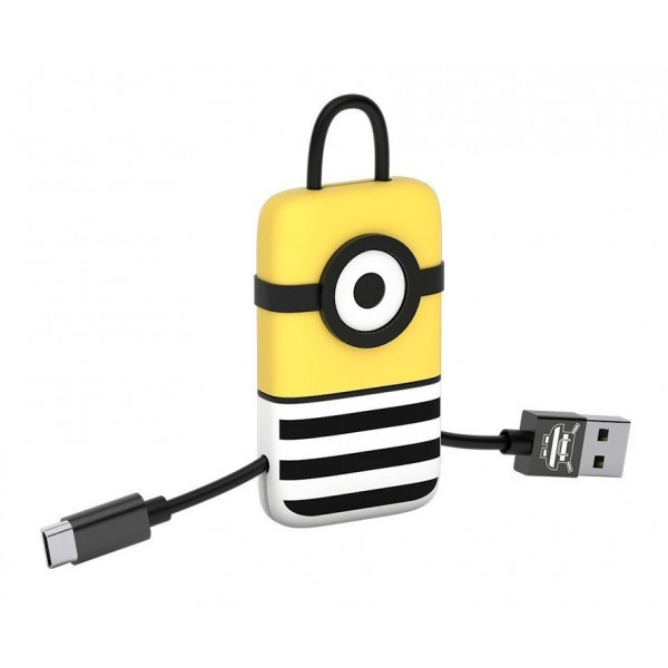 Tribe - Jail Time - Minions - Cavo Micro USB - Portachiavi - Dati e Ricarica per Android, Samsung, HTC, Nokia, Sony - 22 cm