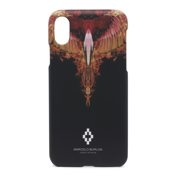 Marcelo Burlon - Cover Orange Wings - iPhone X - Apple - County of Milan - Cover Stampata