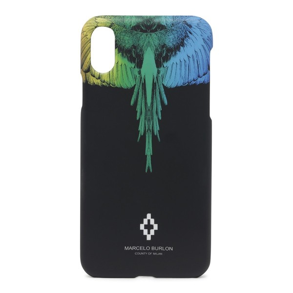 nuovo prodotto e0af6 87694 Marcelo Burlon - Rainbow Wings Cover - iPhone X - Apple - County of Milan -  Printed Case - Avvenice
