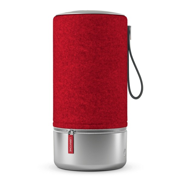 Libratone - Zipp Copenhagen - Rosso Lampone - Altoparlante di Alta Qualità - Airplay, Bluetooth, Wireless, DLNA, WiFi