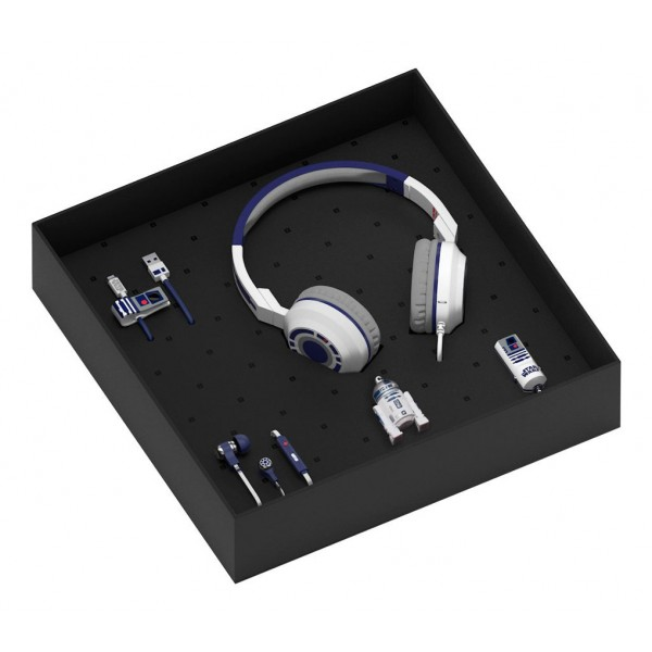 Tribe - R2-D2 - Star Wars - Gift Box - 16 GB USB Stick - Car Charger - Earphones - On-Ear Headphones - Micro USB Cable