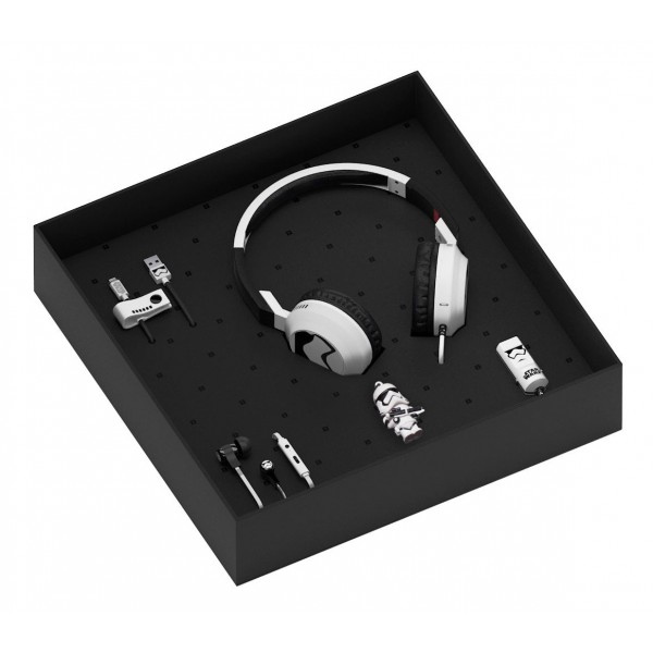 Tribe - Stormtrooper - Star Wars - Gift Box - Chiavetta USB 16 GB - Car Charger - Auricolari - Cuffie On-Ear - Cavo Micro USB