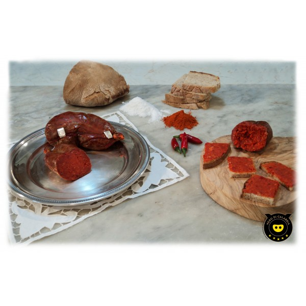 Nero di Calabria - 'Nduja - Salumi Artigianali - Tradizione Calabra - 500 g