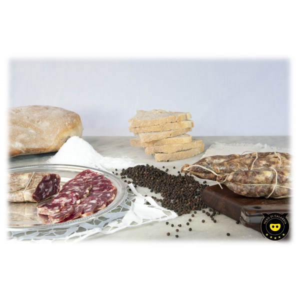 Nero di Calabria - Soppressata Bianca - Salumi Artigianali - Tradizione Calabra - 400 g