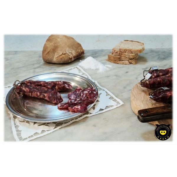 Nero di Calabria - Salsiccia Bianca - Salumi Artigianali - Tradizione Calabra - 340 g