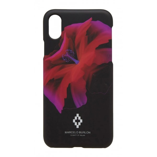 Marcelo Burlon - Cover Red Flower - iPhone X - Apple - County of Milan - Cover Stampata