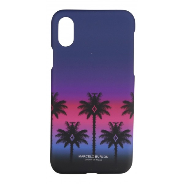 Marcelo Burlon - Cover Pink Palm - iPhone X - Apple - County of Milan - Cover Stampata