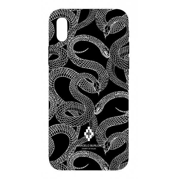 Marcelo Burlon - Cover All Over Snake - iPhone X - Apple - County of Milan - Cover Stampata