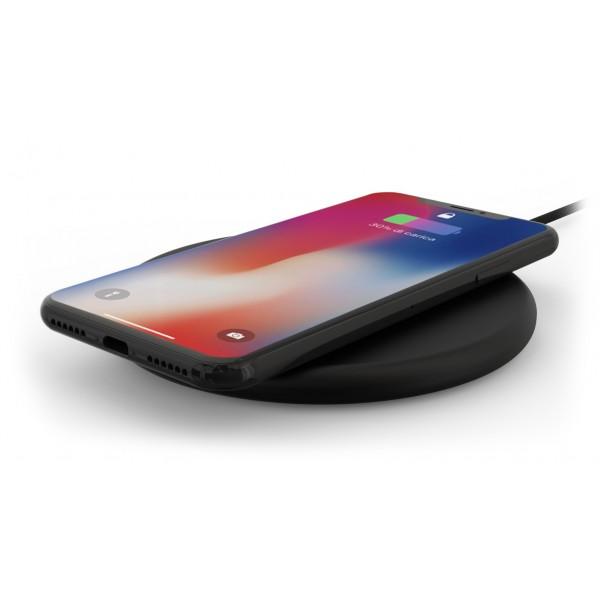 Philo - Pad di Ricarica Wireless con Cavo USB da 1,5 m - Caricatore da Tavolo - Nero - Apple - Samsung