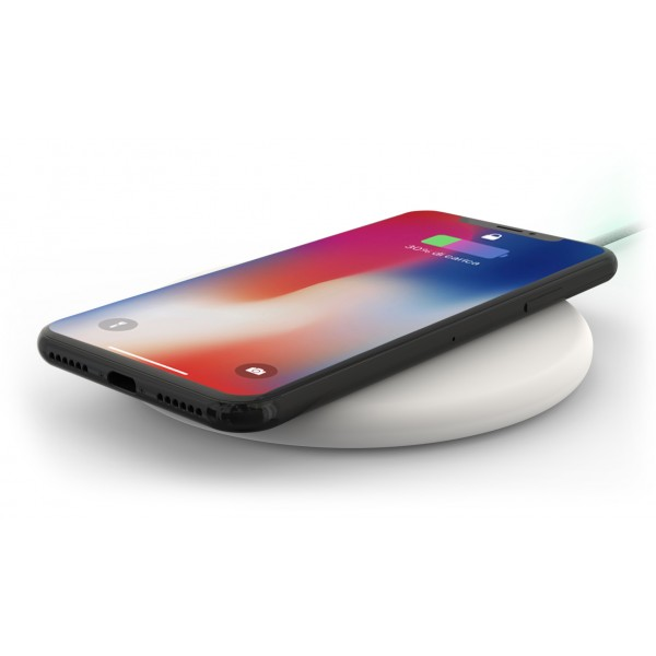 Philo - Wireless Charging Pad with 1,5 mt USB Cable - Charger Stand - White - Apple - Samsung