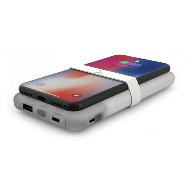 Philo - Caricabatteria Wireless Portatile ad Alta Capacità per Telefoni Cellulari - Bianco - Batterie Portatili - 10000 mAh