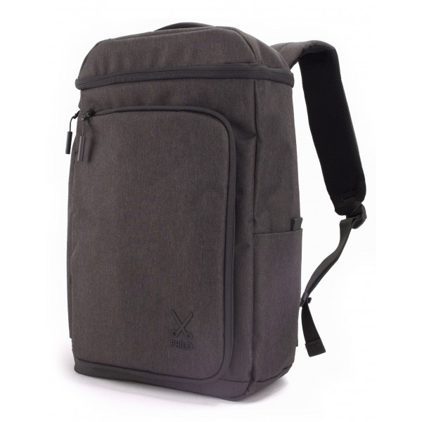 Philo - Smart Backpack - Zaino Intelligente con Porta di Ricarica USB Integrata - Notebook Laptop 15' - Nero - Zaini