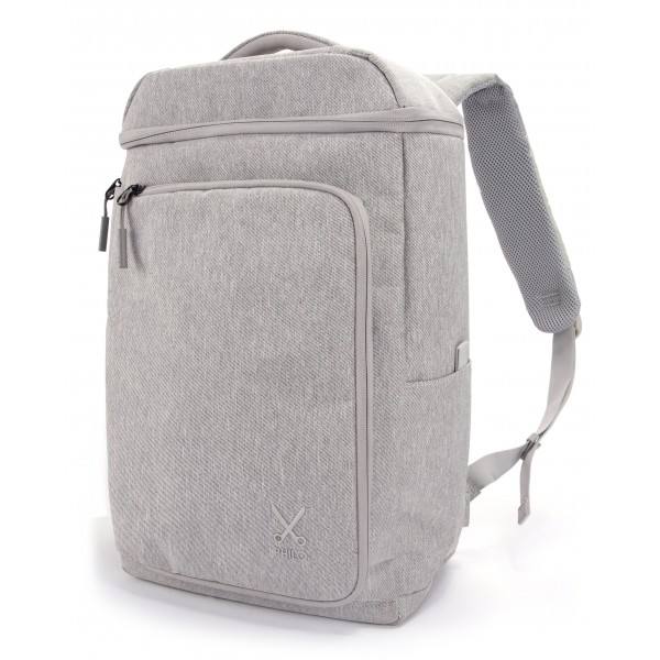 Philo - Smart Backpack - Zaino Intelligente con Porta di Ricarica USB Integrata - Notebook Laptop 15' - Grigio Chiaro - Zaini