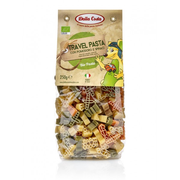 Dalla Costa - Organic Travel Tricolor Pasta - Tomato and Spinach