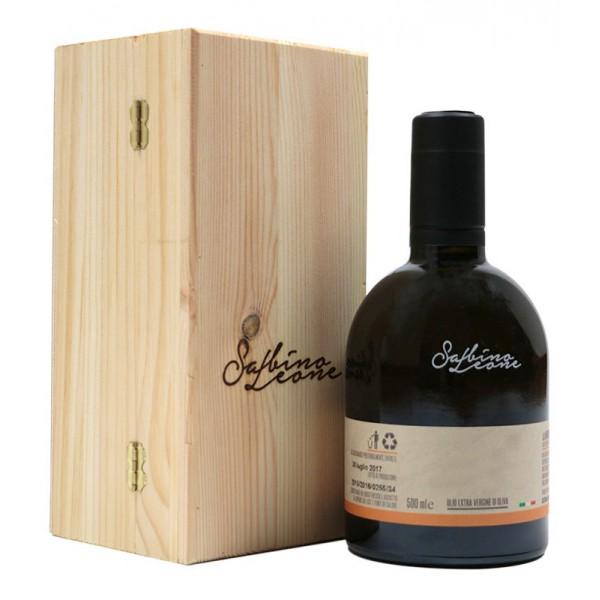 Sabino Leone - La M'nenn con Scatola in Legno - Olio Extravergine di Oliva Biologico Italiano - 500 ml