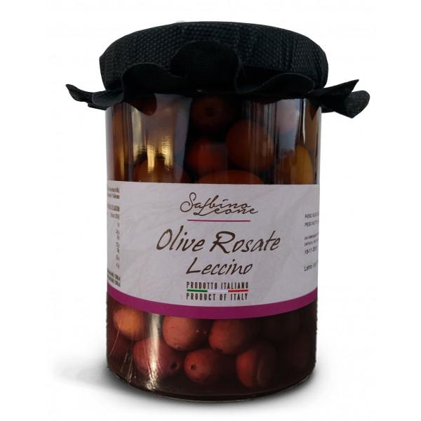 Sabino Leone - Olive Rosate in Salamoia Leccino - Olive in Salamoia - Olive Italiane Biologiche