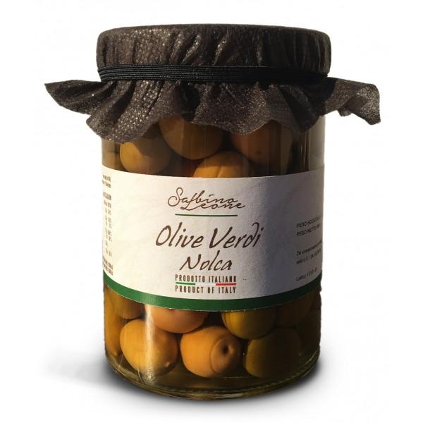 Sabino Leone - Olive Verdi in Salamoia Nolca - Olive in Salamoia - Olive Italiane Biologiche