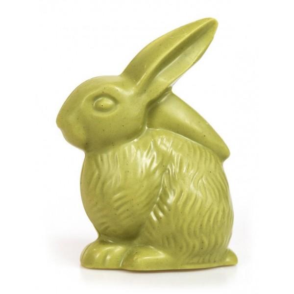 Bacco - Tipicità al Pistacchio - Coniglietto CiokkoBacco - Cioccolato Bianco al Pistacchio - Cioccolato Artigianale - 100 g