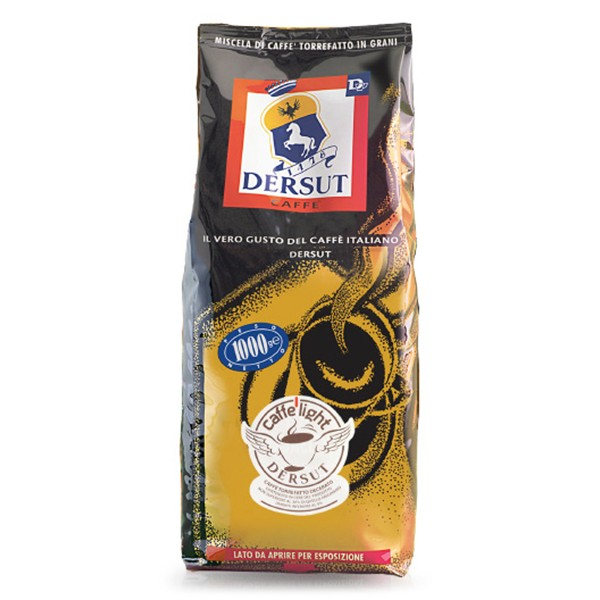 Dersut Caffè - Light Coffee in Grains - Waxed - Coffee Beans - 1 Kg