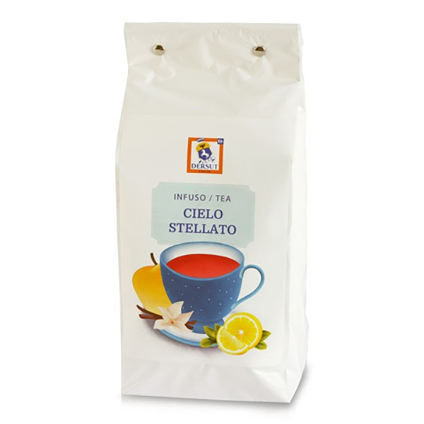 Dersut Caffè - Tè Cielo Stellato Dersut - Mela e Vaniglia - Tè di Alta Qualità - Tè, Tisane e Infusi - 400 g