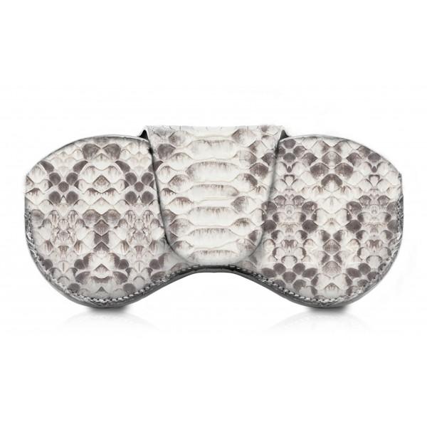 Ammoment - Custodia Occhiali - Pitone in Roccia - Cover Occhiali in Pelle Luxury - Porta Occhiali