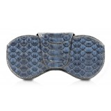 Ammoment - Custodia Occhiali - Pitone in Nero Moxi - Cover Occhiali in Pelle Luxury - Porta Occhiali