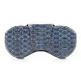 Ammoment - Eyeglass Case - Python in Moxi Black - Luxury Eyeglass Leather Cover