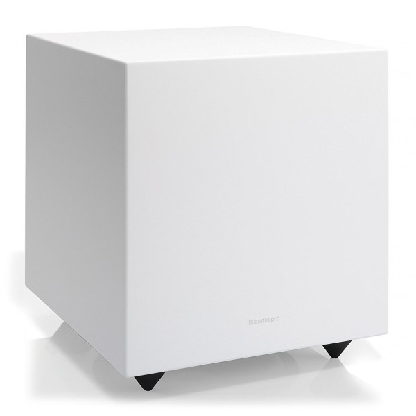 Audio Pro - Addon Sub - White - High Quality Subwoofer - Powered Subwoofer - LFE, RCA, Stereo, Bluetooth