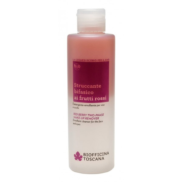 Biofficina Toscana - Red Berry Two-Phase Make-Up Remover - Facial Line - Organic Vegan Cosmetics